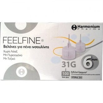 ХАРМОНИУМ ФАРМА HARMONIUM FEELFINE ИГЛИ  100 БРОЯ / HARMONIUM FEELFINE INSULIN PEN NEEDLES