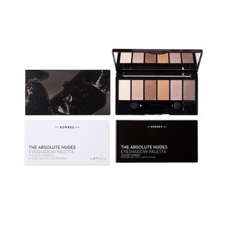 КОРЕС THE ABSOLUTE NUDES  СЕНКИ ЗА ОЧИ ЧЕРНИ ВУЛКАНИЧНИ МИНЕРАЛИ / KORRES THE ABSOLUTE NUDES EYESHADOW PALETE VOLCANIC MINERALS INTENSE PAY-OFF / SATIN FINISH 6gr
