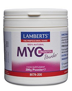 ЛАМБЕРТС ВИТАМИН Б8 MYO -INOSITOL ПРАХ 200 ГР / LAMBERTS MYO -INOSITOL POWDER 200GR