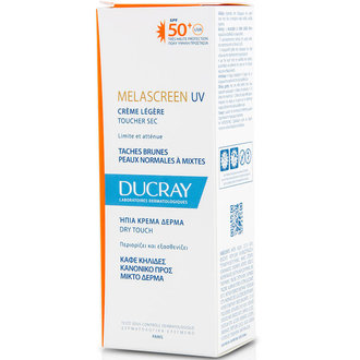 ДЮКРЕ MELASCREEN ЛЕК КРЕМ SPF 50+ DRY TOUCH  40ML / DUCRAY MELASCREEN CREME LEGERE SPF 50+ DRY TOUCH  40ML