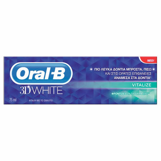 ПАСТА ЗА ЗЪБИ ORAL -B 3D WHITE - VITALIZE 75 мл / ORAL B 3D WHITE VITALIZE 75ML