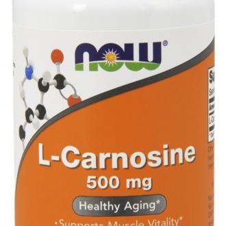 НАУ ФУДС L-КАРНОЗИН КАПСУЛИ 500 МГ. * 50 / NOW SPORTS L-CARNOSINE 500 MG, 50 VEG. CAPS