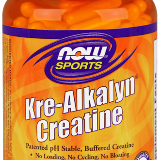 НАУ ФУДС KRE-ALKALYN CREATINE 750 МГ - 120 КАПСУЛИ /NOW SPORTS KRE-ALKALYN CREATINE, 120 CAPS