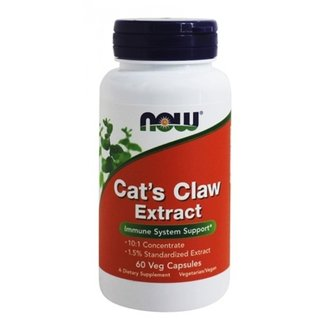 НАУ ФУДС КОТЕШКИ НОКЪТ ЕКСТРАКТ 60 КАПС/ NOW CAT'S CLAW EXTRACT, 60 VEG. CAPS