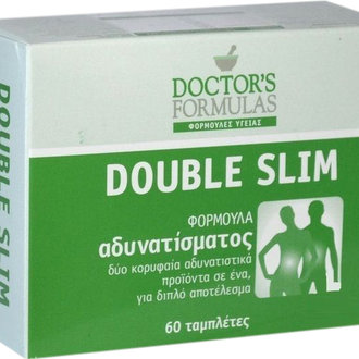 ДОКТОРС ФОРМУЛАС ДАБЪЛ СЛИМ 60 ТАБЛЕТКИ / DOCTOR'S FORMULAS DOUBLE SLIM 60tabs