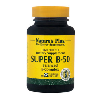 НЕЙЧЪРС ПЛЮС СУПЕР Б - 50 * 60 КАПС  / NATURE'S PLUS SUPER B-50 VCAPS 60