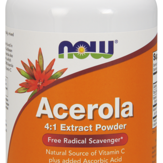 НАУ ФУДС АЦЕРОЛА ПРАХ 170 ГР./NOW ACEROLA EXTRACT POWDER 170GR